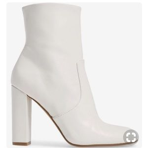 Madden Girl White Emission S Heeled Boots
